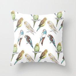 Budgies Budgies Budgies Throw Pillow
