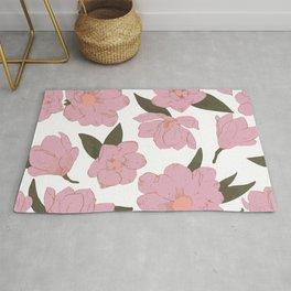 Cold pink magnolias pattern Rug