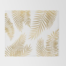 Gold palm leaves