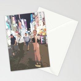 Shinjuku by night Stationery Cards
