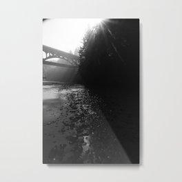 Moody Coastal Bridge in the Pacific Northwest Metal Print