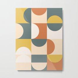 Mid Century Modern Geometric 23 Metal Print