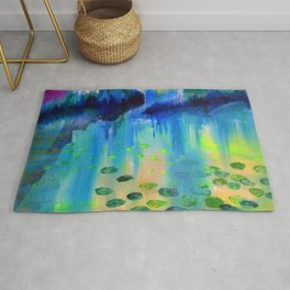 Lily Pads in the Misty Cove Rug