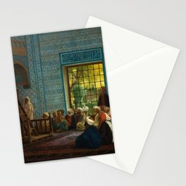 Sermon in the Mosque by Jéan Leon Gerome Stationery Cards
