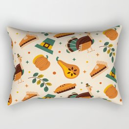 Copy of THANKSGIVING ELEMENTS PATTERN DESIGN (Duvet, Backpacks, Masks, Duffle Bags, Clothing, Book, Pillow, Sticker, Case, Mug etc) Rectangular Pillow