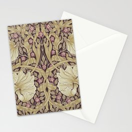 William Morris Pimpernel Orchid & Violets Floral Textile Pattern Stationery Cards