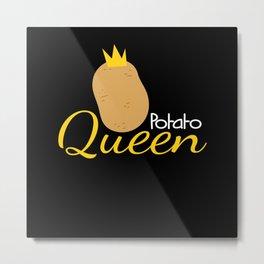 Potato Queen Potato Farmer Costume Metal Print