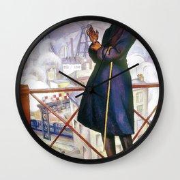 Portrait Of Adolfo Best Maugard - Diego Rivera Wall Clock