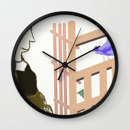 Hanging Out - Hanging Around Wall Clock