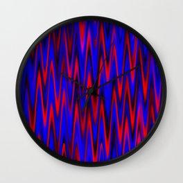 WAVY #1 (Blues & Reds) Wall Clock
