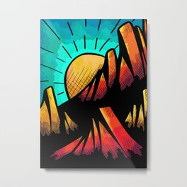 Sun hot mountains Metal Print