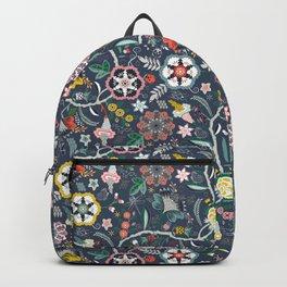 BOHO Chintz (Periwinkle grey) Backpack