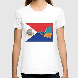 Sint Maarten Flag with Map T-shirt