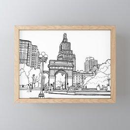 Washington Square Park - New York Framed Mini Art Print
