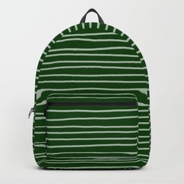 Forest Green Pinstripes Backpack
