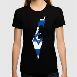 Israel Map with Israeli Flag T-shirt
