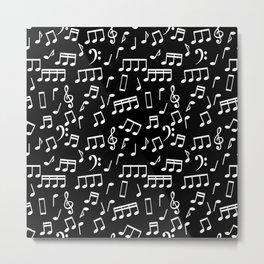 Musical Notes Pattern Metal Print