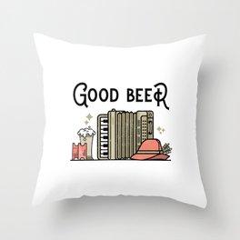 Good oktoberfest beer Throw Pillow