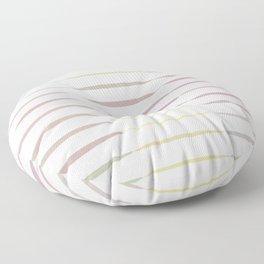 Multicolor Geometric Strips  Floor Pillow