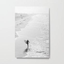 Female Surfer Manhattan Beach California Metal Print