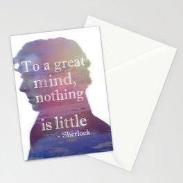 great minds - sherlock Stationery Cards