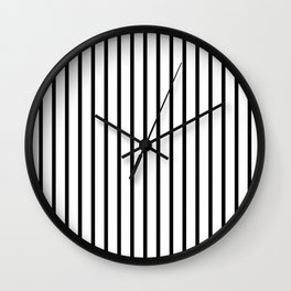 Black and White Vertical Stripes - Version 2 Wall Clock