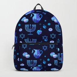 Happy Hanukkah Festival Holiday Decoration JUDAICA Backpack