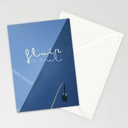 fluir azul Stationery Cards