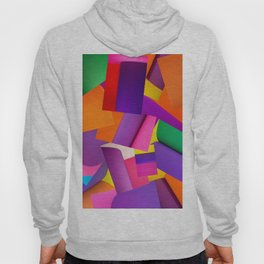 Abstract background of sheets of colored paper Hoody