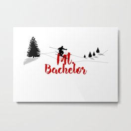 Ski at Mt. Bachelor Metal Print