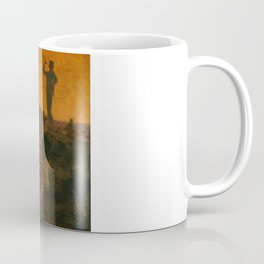 "Jean-François Millet ""Calling Home the Cows"" oil on wood Coffee Mug"