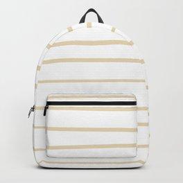 Valspar America Wood Yellow - Homey Cream - Glow Home Hand Drawn Horizontal Stripes on White Backpack