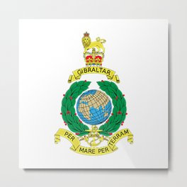 Royal Marines Corps UK Military Veteran Morale T-Shirt Metal Print