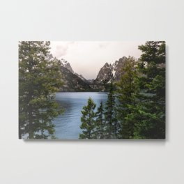 Grand Teton Wanderlust Lake Adventure - Nature Photography Metal Print