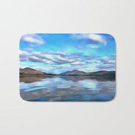 Loch Lomond (Painting) Bath Mat