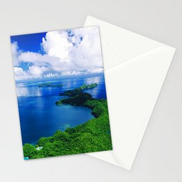 Breathtaking Palau Tropical Islands With Exotic Sky & Ocean Stationery Cards