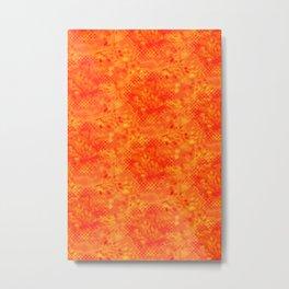 Fire in the Jungle Bright Orange Metal Print