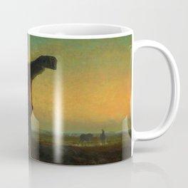 """Jean-François Millet """"La fin de la journée; effect du soir (The end of the day; evening effect)"""" Coffee Mug"""