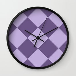 Lavenders and Diamonds Wall Clock