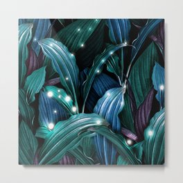 Tropical Magic Forest Metal Print