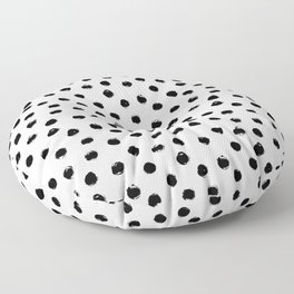 Polka Dots Black and White Floor Pillow