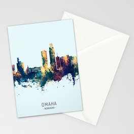 Omaha Nebraska Skyline Stationery Cards