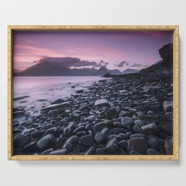 Sunset at Elgol Serving Tray