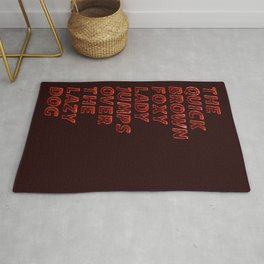 The quick brown foxy Lady - Trianglo Rug