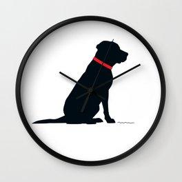 Modern Black Lab Silhouette Wall Clock