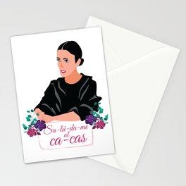 saludame al cacas Stationery Cards