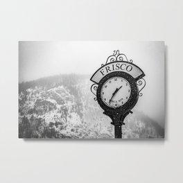 Frisco Colorado Town Clock Metal Print