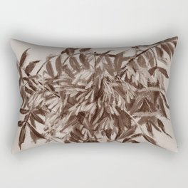 Ash-tree in sepia,floral art, monochrome Rectangular Pillow