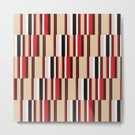 vertical broken stripe Metal Print