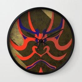 Kabuki kumadori Wall Clock